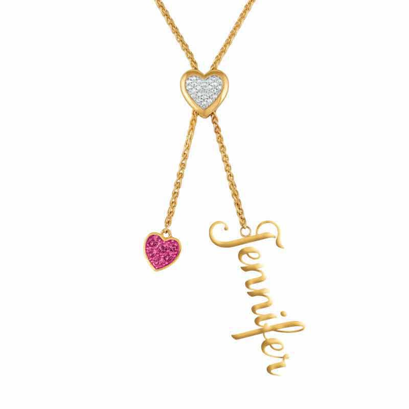 Daughter Personalized Birthstone Bolo Necklace 6525 001 1 4