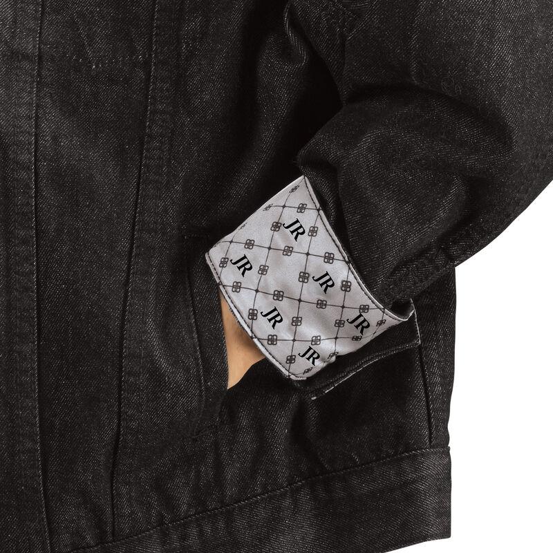 Personalized Black Denim Jacket 6885 0015 c hand