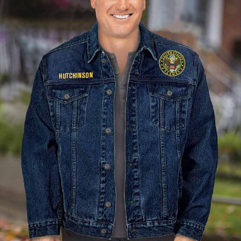 The Personalized Mens US Army Denim Jacket 1365 001 5 3