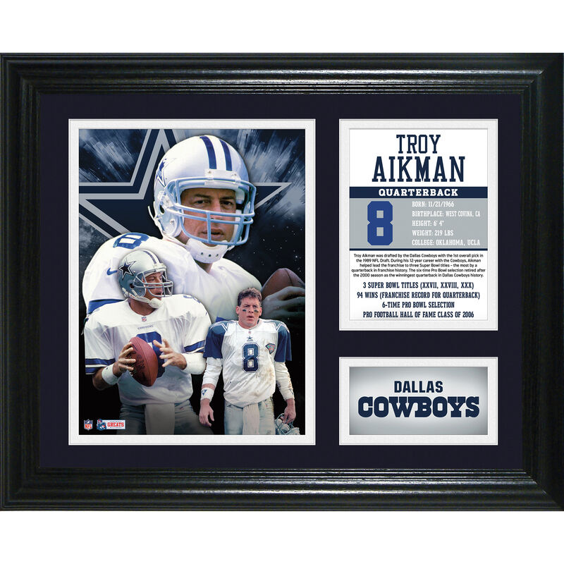 Troy Aikman Framed Photo Collage 4391 1650 a main
