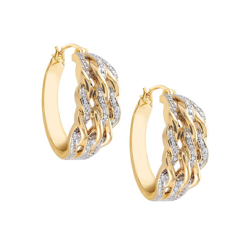 Diamond Swirl Earrings 6500 0028 a main
