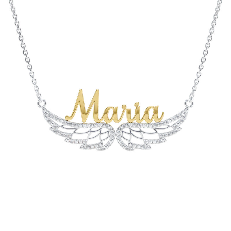 Granddaughter Personalized On Angel Wings Necklace 10372 0017 a main