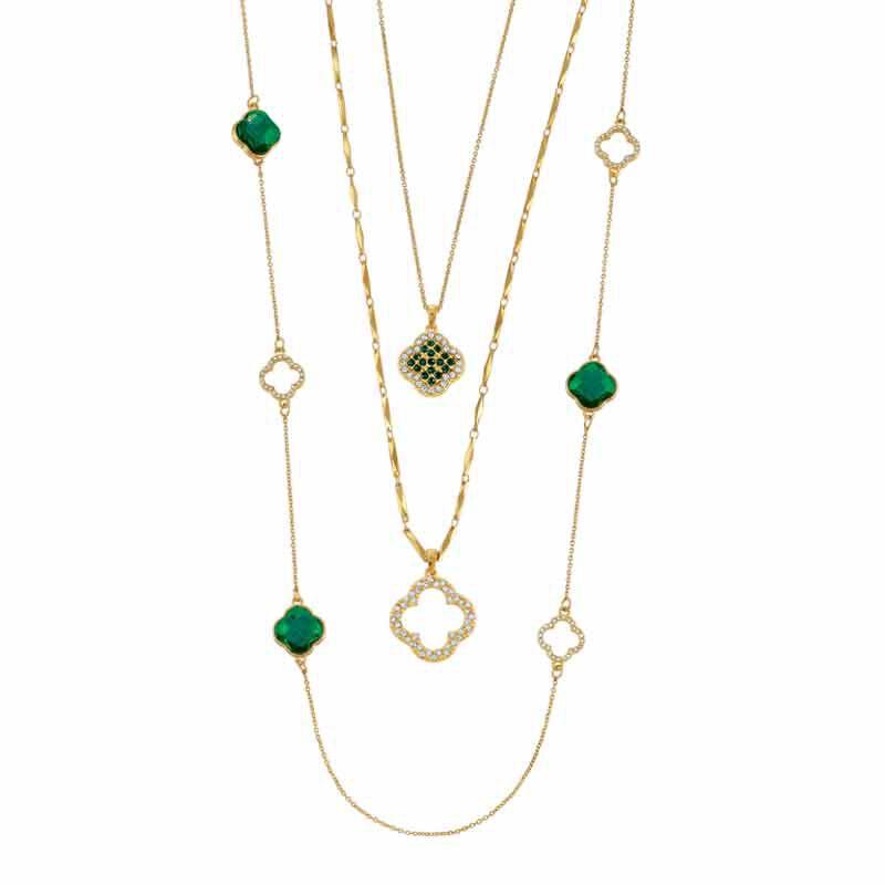 Birthstone Beauty Layered Necklace Set 6594 001 7 5