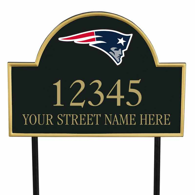 The NFL Personalized Address Plaque 5463 0355 v patriots