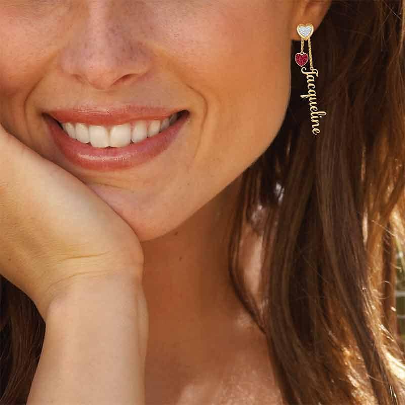 Personalized Birthstone Earrings 6553 001 6 14