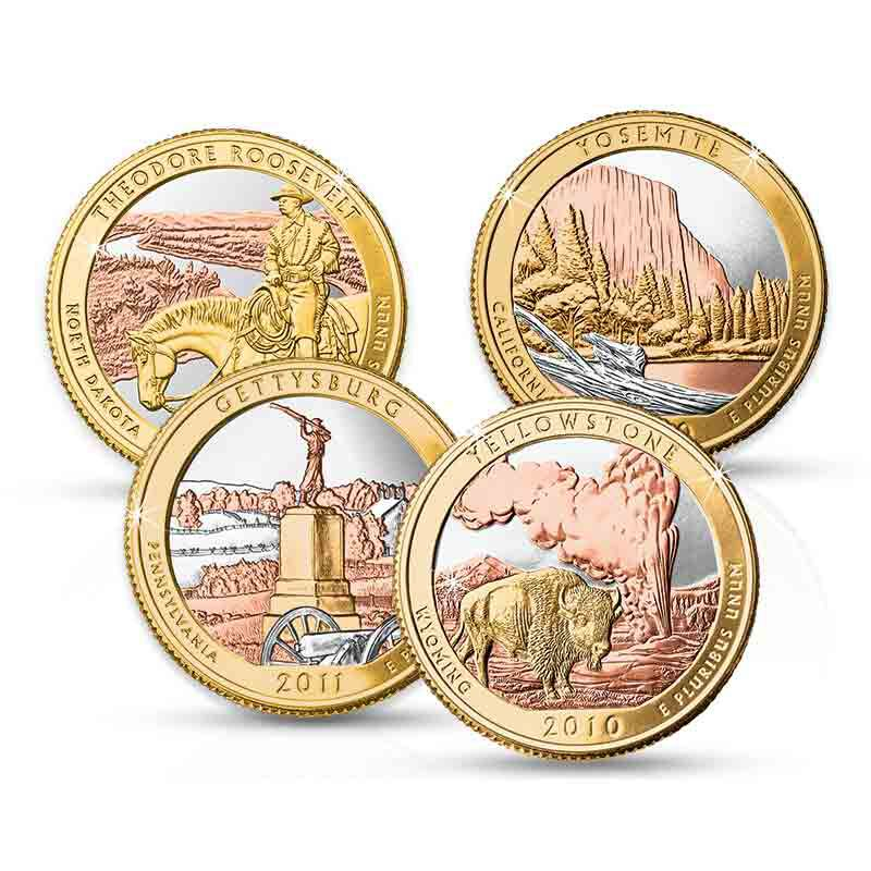 Platinum and Gold Highlighted Land of the Free State Quarters 2120 001 9 1