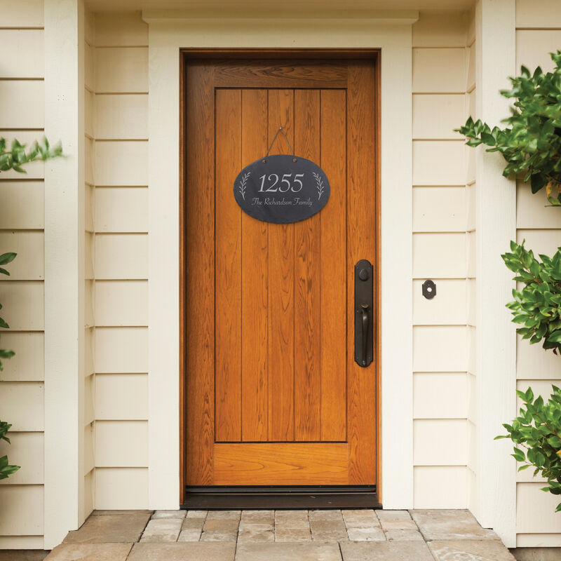 The Personalized Family Slate Address Sign 10607 0014 c door