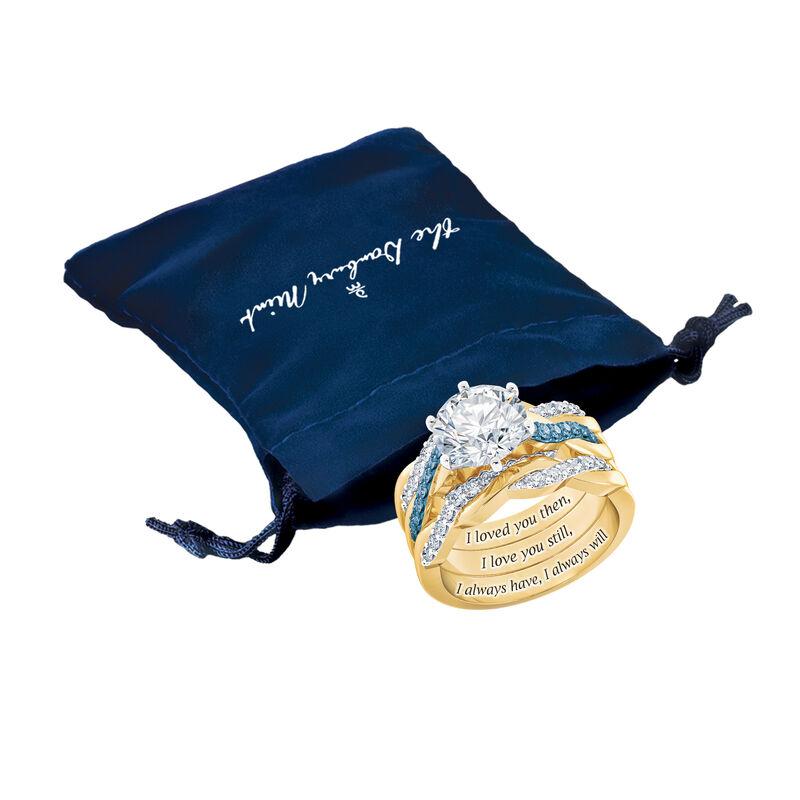 I Still Do Birthstone Ring Set 6740 0010 g gift pouch