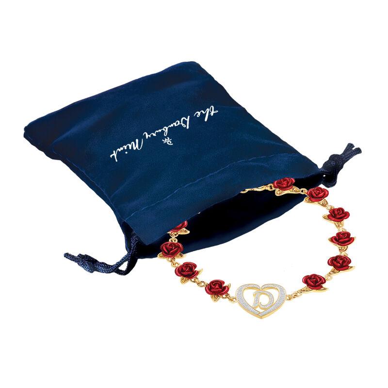 A Dozen Roses Initial Bracelet 10212 0011 g gift pouch