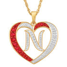 Personalized Diamond Initial Heart Pendant with FREE Poem Card 2300 0060 n initial
