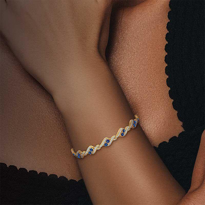 Birthstone  Diamond Bracelet 6321 001 7 15