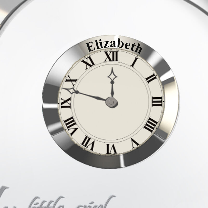 My Daughter Forever Personalized Crystal Desk Clock 4257 0085 b closeup