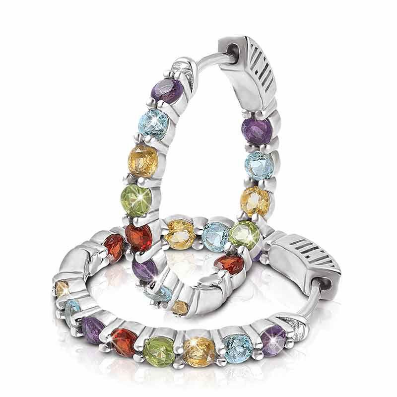 Endless Glamour Gemstone Hoop Earrings 2240 001 4 2