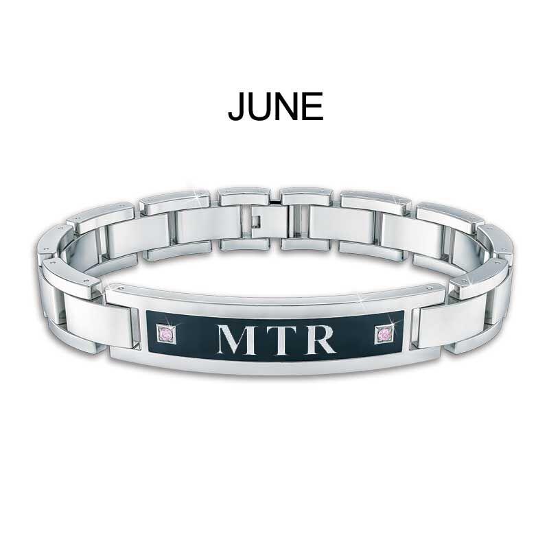 Mens Birthstone ID Bracelet 5824 001 1 7