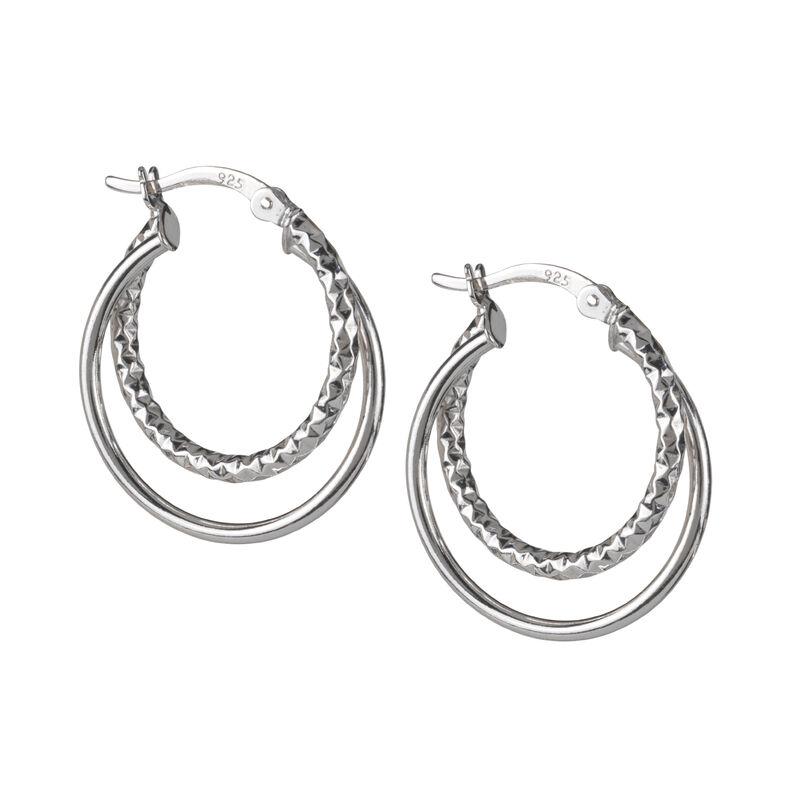 A Sterling Year Silver Hoop Earrings 10633 0012 b earring02