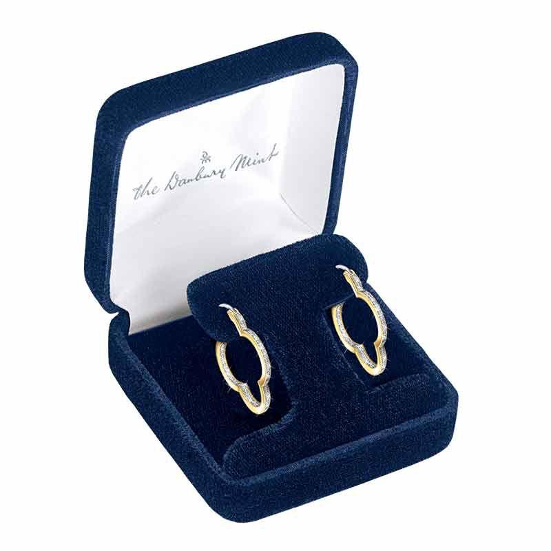 The Dazzling Diamond Quatrefoil Hoops 6232 001 5 3