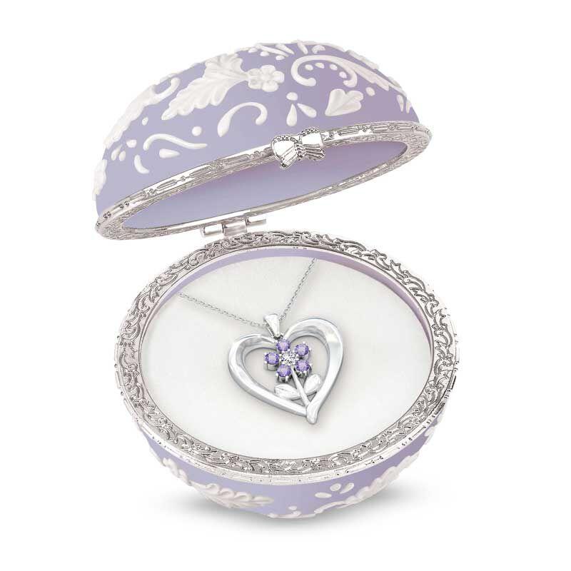My Granddaughter Forever Gemstone Pendant  Keepsake Box 4501 002 2 4