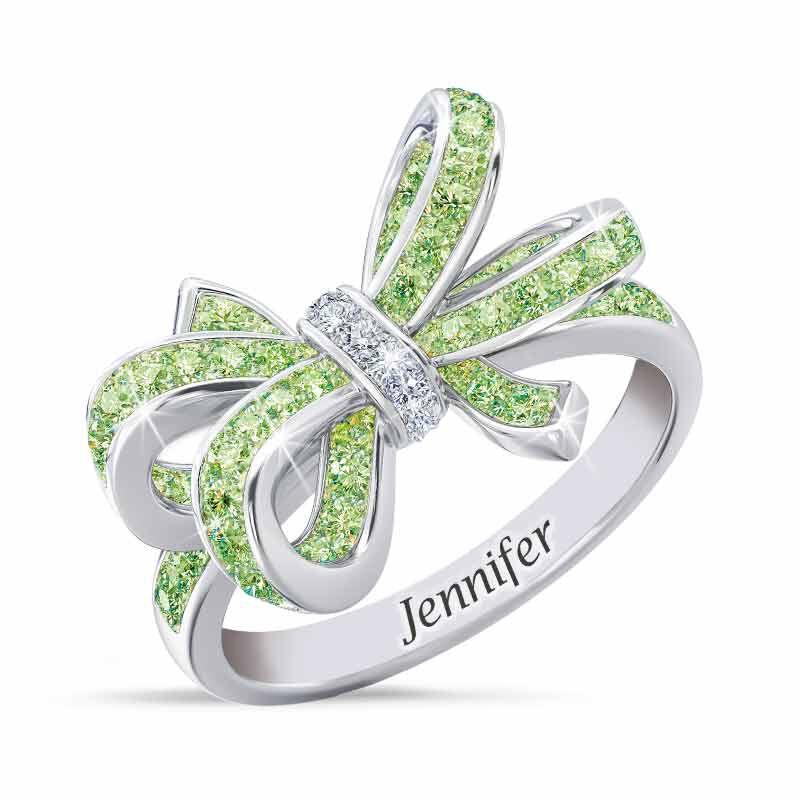 Birthstone  Diamond Bow Ring 1876 001 7 8