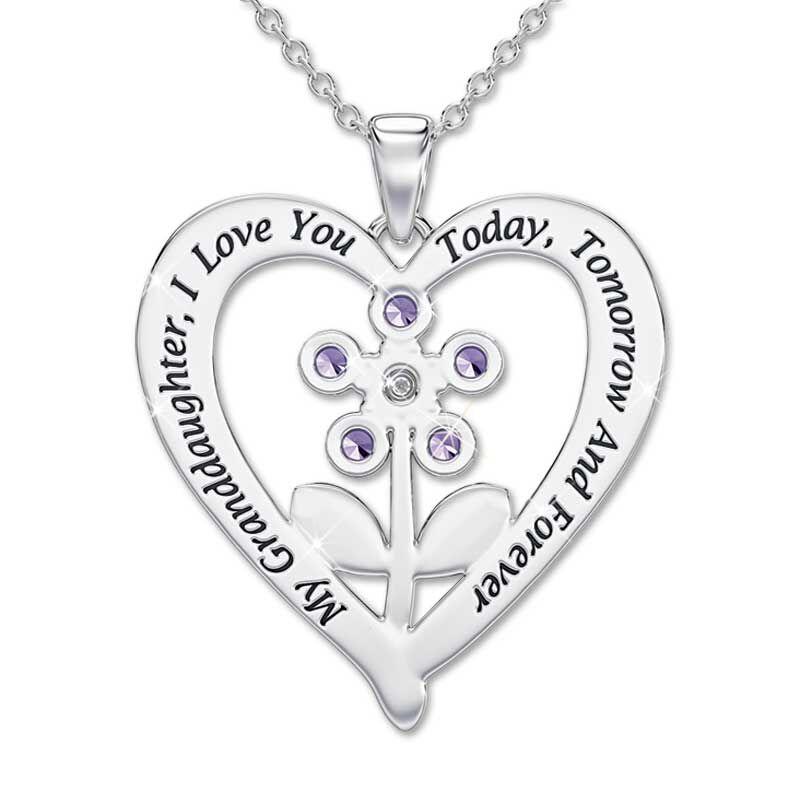 My Granddaughter Forever Gemstone Pendant  Keepsake Box 4501 002 2 2