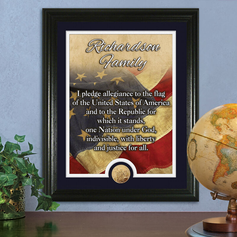 American Flag Pledge of Allegiance Personalized Print 1532 0062 m room