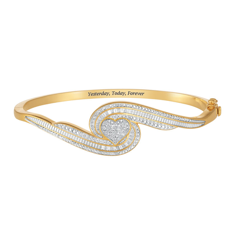 Forever Diamond Heart Bangle 10221 0010 a main