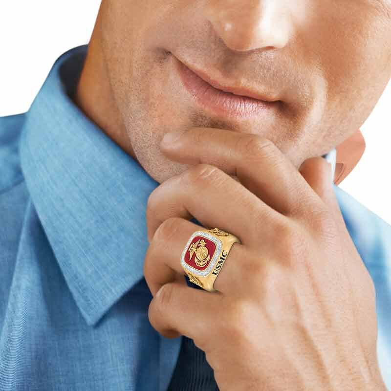 Personalized US Marines Ring 1660 003 3 3