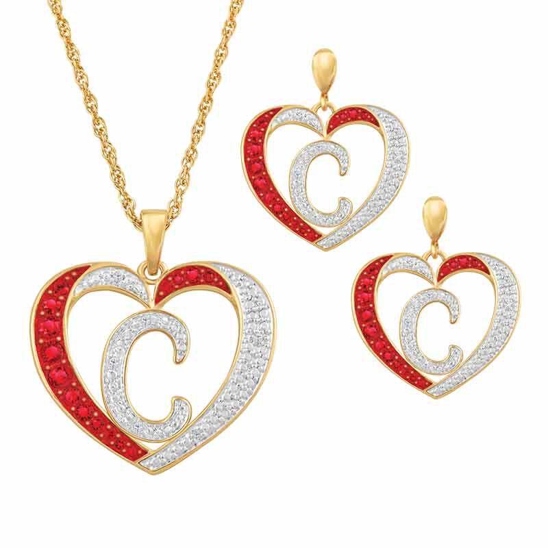 Personalized Diamond Initial Heart Set 2300 005 2 1