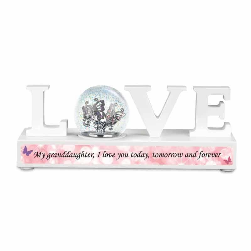 My Granddaughter I Love You Sparkle Globe Desktop Display 5991 001 8 1