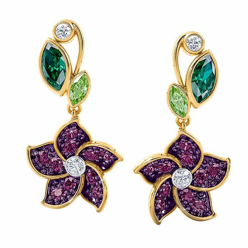 Violets in Bloom Crystal Necklace 2920 001 1 3