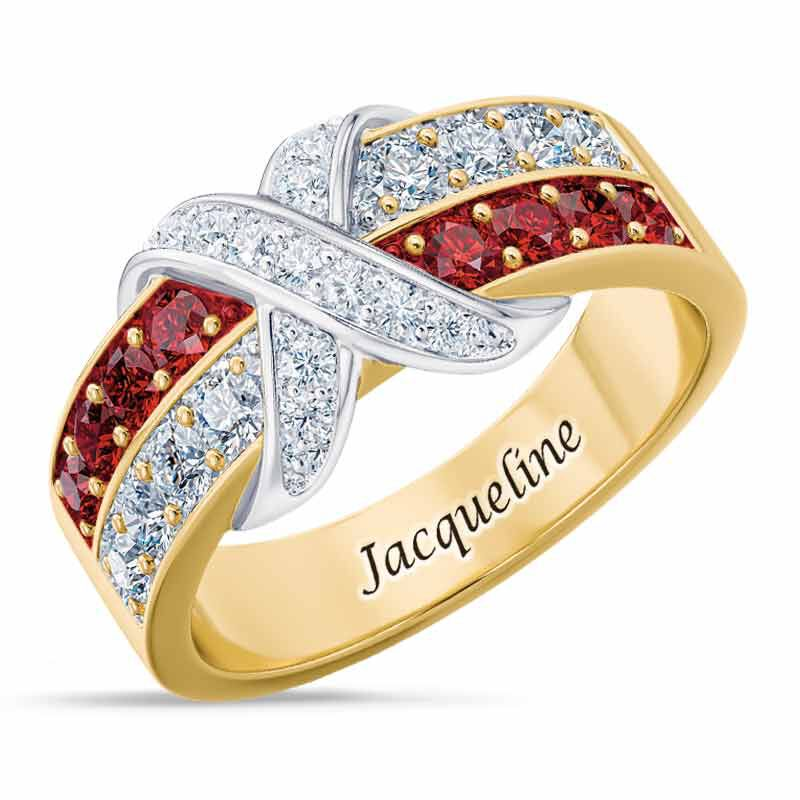 Birthstone Beauty Diamond Kiss Ring 6503 001 7 7