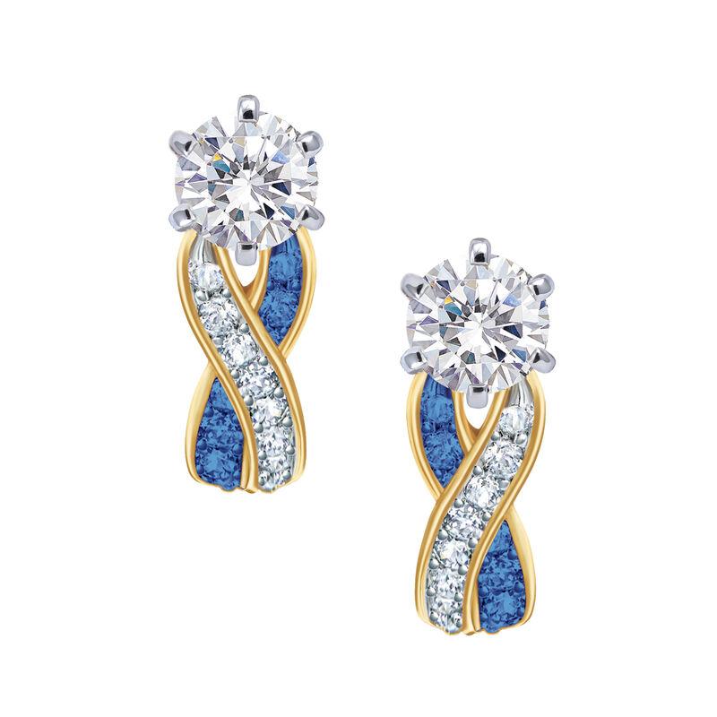 Birthstone Swirl Earrings 6503 0033 i september