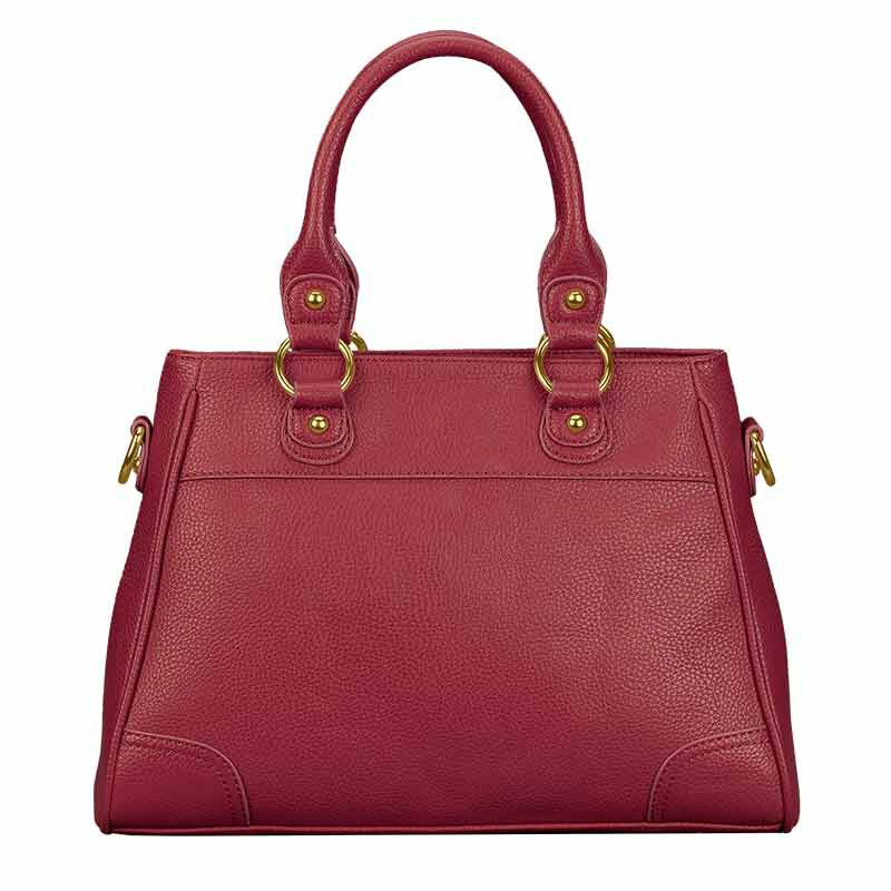 Personalized Initial Red Handbag 2209 001 3 5