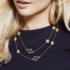 Dazzling Faith Long Cross Necklace 10178 0013 n model