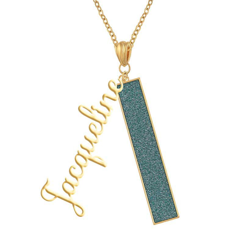 Personalized Birthstone Bar Necklace 6800 001 7 5