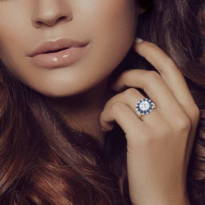 Birthstone Beauty Diamonisse Halo Ring 4924 001 3 13