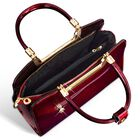 Ruby Red Genuine Leather Handbag 5619 001 0 2