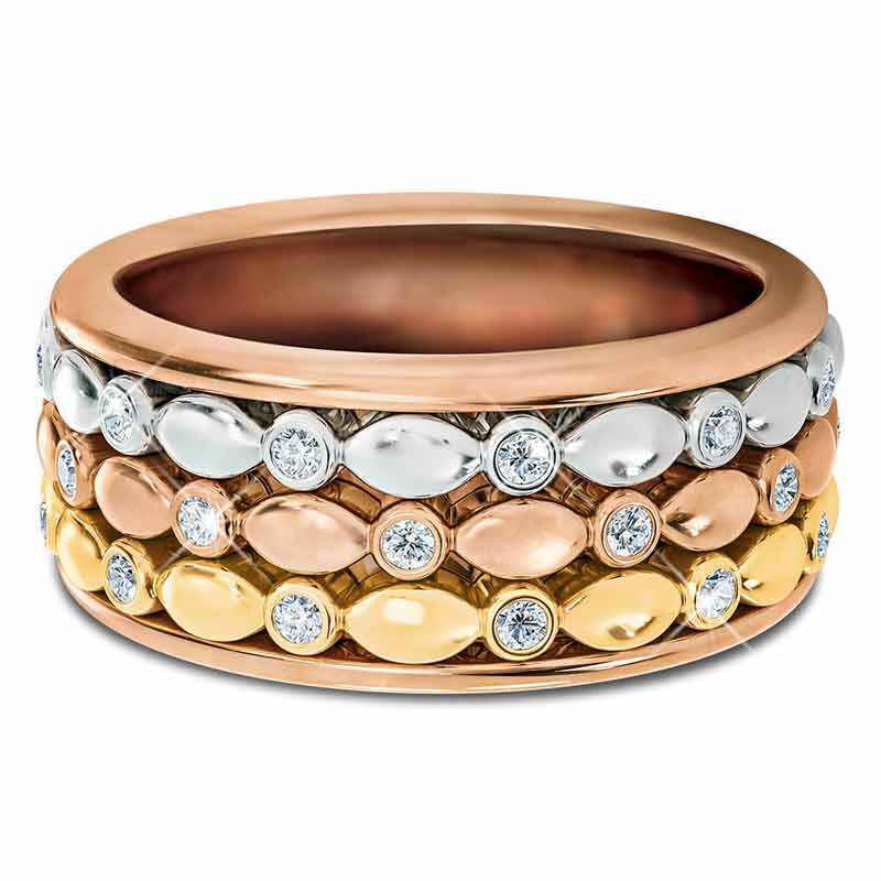 Copper Trinity Spinner Ring 4948 001 5 3