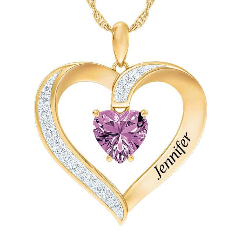 Personalized Birthstone Heart Pendant 5447 001 8 6