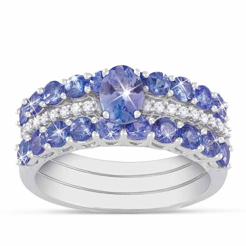 Purple Majesty Tanzanite  Diamond Ring Set 2107 001 6 1