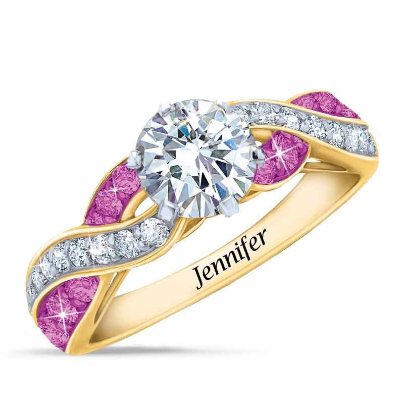 Birthstone Swirl Personalized Ring 5361 001 0 10