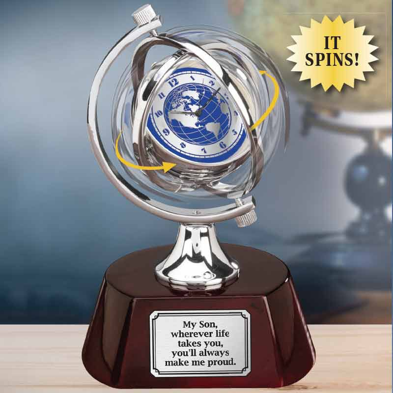 Son Youll Always Make Me Proud Globe Desk Clock 6429 001 8 2