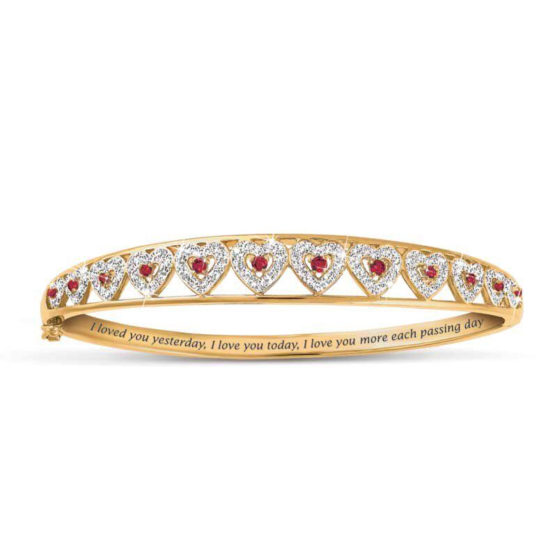 I Love You Ruby  Diamond Bangle 5291 001 5 1