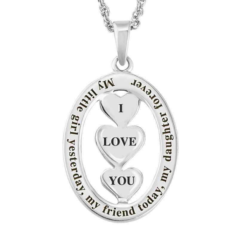 My Daughter I Love You Diamond Pendant 1140 001 7 3
