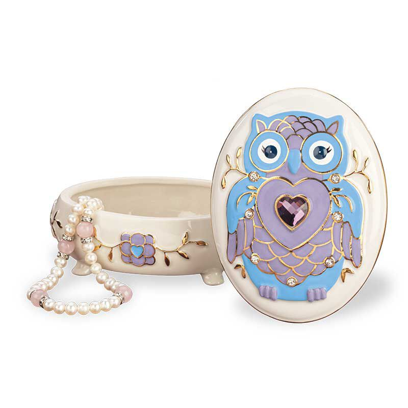 My Granddaughter Never Forget Whooo Loves You Porcelain Jewelry 6441 001 2 2