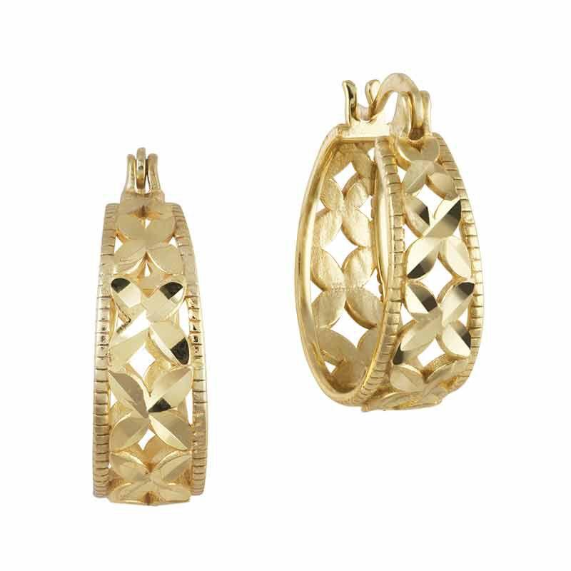 Golden Kisses Diamond Cut Hoops wPendant 2257 004 8 2