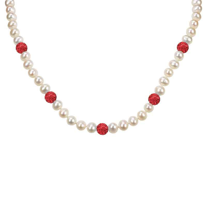 Bedazzled with Birthstones Pearl Necklace 5106 001 0 7