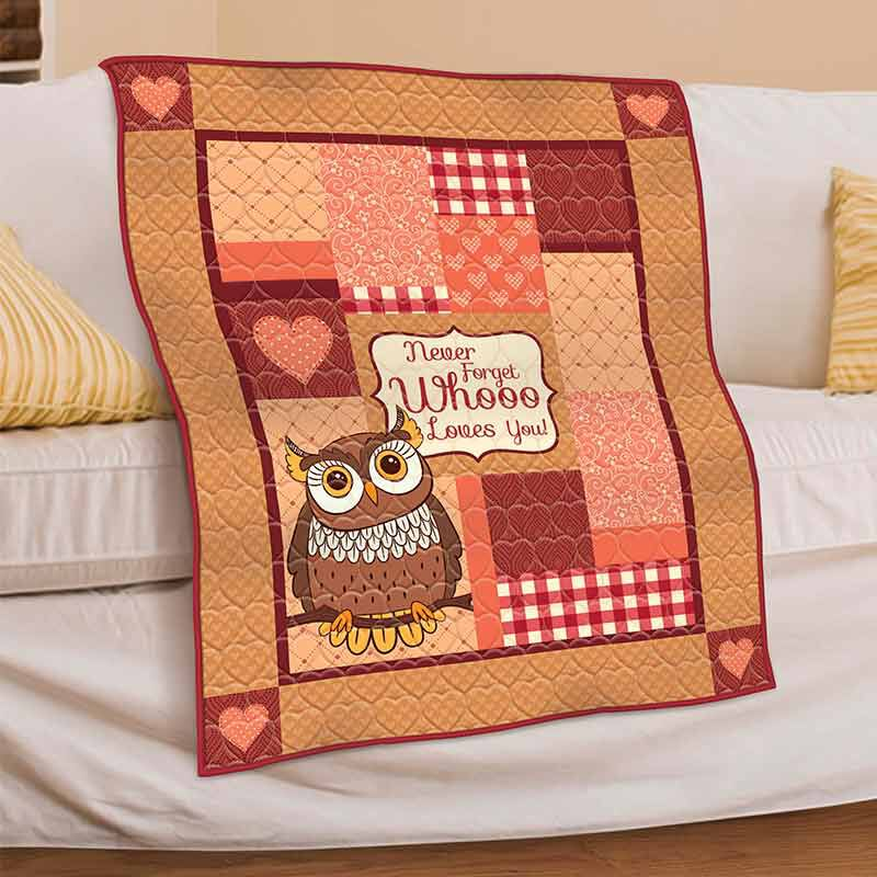 Never Forget Whooo Loves You Granddaughter Owl Quilt 6178 001 1 2
