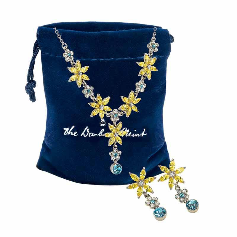The Almond Blossom Necklace  Earring Set 6490 001 2 2