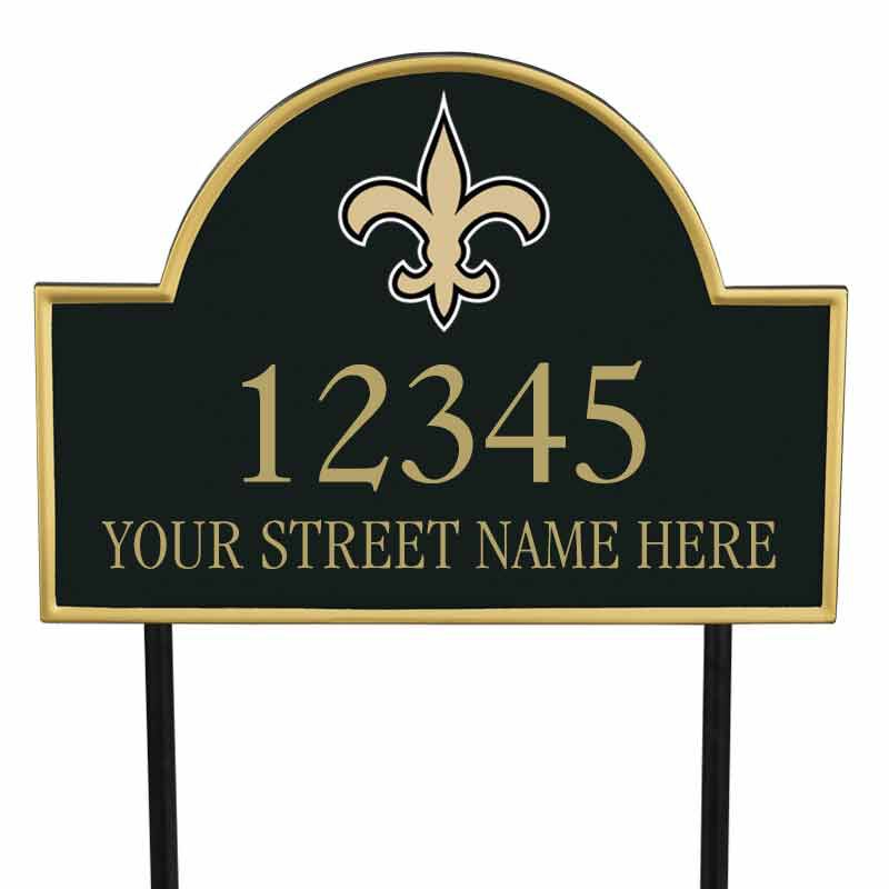The NFL Personalized Address Plaque 5463 0355 z saints