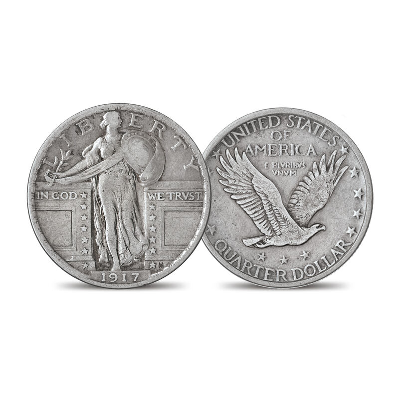 The 1917 Standing Liberty Silver Quarter Set 6811 0014 c type two
